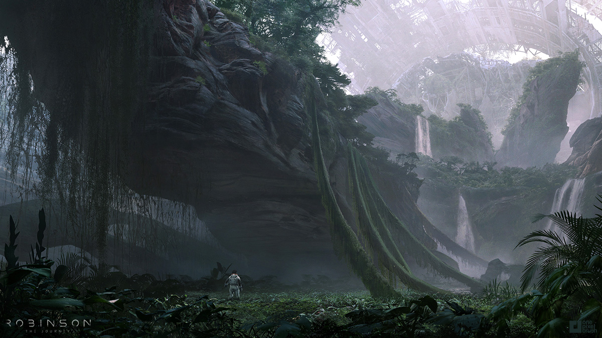 crytek, shaddy safadi, concept art, one pixel brush, robinson the journey, e3, digital art
